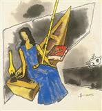 Untitled (from the Gaja Gamini Series) - M F Husain - Auction 2002 (May)