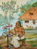 Lassar Noble Driving the Earth Vehicle - Gopikrishna  . - Spring Auction 2009