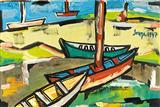 Untitled (Goan Port) - F N Souza - Autumn Auction 2010
