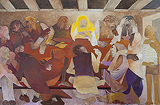 Suspense at Last Supper - Krishen  Khanna - Autumn Auction 2010