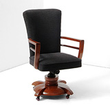 A SWIVEL CHAIR -    - 24-Hour Online Auction: Art Deco