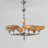 A SIX-LIGHT CHANDELIER -    - 24-Hour Online Auction: Art Deco