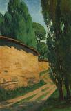 Untitled (Zebegény Landscape) - Amrita  Sher-Gil - Autumn Art Auction