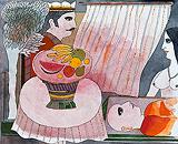 Still Life with Figures - Badri  Narayan - Autumn Art Auction