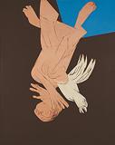 Falling Figure with Bird - Tyeb  Mehta - Autumn Art Auction