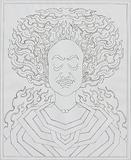 Untitled - Ghulam Rasool Santosh - Words & Lines II Auction