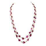 AN IMPORTANT SPINEL AND PEARL NECKLACE -    - Auction of Fine Jewels & Watches