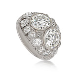 AN EXCEPTIONAL VICTORIAN DIAMOND RING -    - Auction of Fine Jewels & Watches