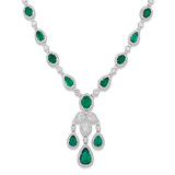 A REGAL EMERALD AND DIAMOND NECKLACE -    - Auction of Fine Jewels & Watches