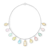 A QUARTZ AND DIAMOND NECKLACE -    - Auction of Fine Jewels & Watches