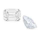 A WELL MATCHED PAIR OF UNMOUNTED DIAMONDS -    - Auction of Fine Jewels & Watches