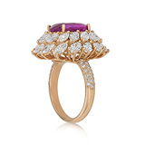 A PINK SAPPHIRE AND DIAMOND RING -    - Auction of Fine Jewels & Watches