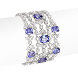 A DELICATE TANZANITE AND DIAMOND BRACELET -    - Auction of Fine Jewels & Watches