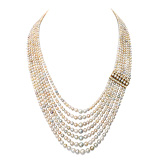 AN IMPORTANT SEVEN-STRAND NATURAL PEARL NECKLACE -    - Auction of Fine Jewels & Watches