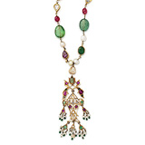 A GEMSET 'FISH' PENDANT -    - Auction of Fine Jewels & Watches