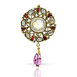 A PERIOD YELLOW SAPPHIRE AND DIAMOND PENDANT - Auction of Fine Jewels & Watches