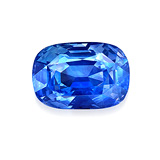 AN UNMOUNTED NATURAL KASHMIR SAPPHIRE -    - Auction of Fine Jewels & Watches