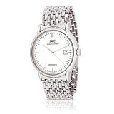 IWC: MENS 'PORTOFINO' STEEL WRISTWATCH, REF. 3565-01 -    - Auction of Fine Jewels & Watches