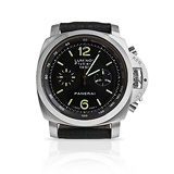 PANERAI: MENS 'LUMINOR FLYBACK CHRONOGRAPH' STEEL WRISTWATCH, REF. 1950 PAM 212 -    - Auction of Fine Jewels & Watches