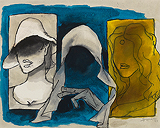 Madhuri-Mother-Madonna - Maqbool Fida Husain - Summer Art Auction 2012