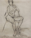 Untitled - Jehangir  Sabavala - 24-Hour Auction: Words & Lines III