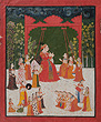 Maharana Ari Singh of Mewar Seated on a Swing - Indian Miniature Paintings and Works of Art