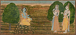Sita accompanied by Lakshman approaches Rama - Indian Miniature Paintings and Works of Art