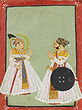 Maharana Raj Singh II with a Visitor - Indian Miniature Paintings and Works of Art