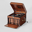 A PORTABLE VINTAGE GRAMOPHONE, HMV - Travel and Leisure Auction