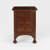 A CHEST OF DRAWERS WITH EXOTIC WOOD INLAY -    - 24-Hour Online Auction: Elegant Design