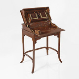 A RARE TEAKWOOD CAMPAIGN DESK -    - 24-Hour Online Auction: Elegant Design