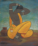 Painting by Jamini  Roy
