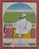 PORTRAIT OF A SIKH NOBLEMAN -    - Classical Indian Art