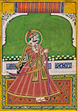 PORTRAIT OF A RULER OF A RAJPUT ROYAL FAMILY -    - Classical Indian Art