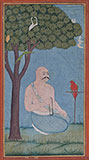 AN ASCETIC SEATED UNDER A TREE -    - Classical Indian Art