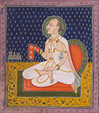 A MEMBER OF THE ROYAL KISHANGARH FAMILY AT WORSHIP -    - Classical Indian Art