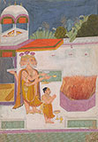 LORD BRAHMA BEFORE A SACRIFICIAL FIRE -    - Classical Indian Art
