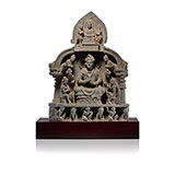 MAITREYA AND BUDDHA WITH ATTENDANTS -    - Classical Indian Art