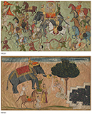 ROYAL PROCESSION/PRINCESS APPROACHING SLEEPING RAJA -    - Classical Indian Art | Live Auction, Mumbai