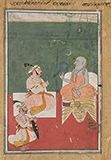 MAHARANA JAGAT SINGH II WITH A HOLY MAN -    - Classical Indian Art | Live Auction, Mumbai