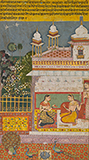CONFIDANTES IN A PAVILION: AN ILLUSTRATION FROM A RASIKAPRIYA -    - Classical Indian Art | Live Auction, Mumbai
