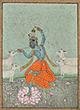 DANCING KRISHNA WITH COWS - Classical Indian Art | Live Auction, Mumbai