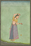 LADY WITH A YOYO -    - Classical Indian Art | Live Auction, Mumbai