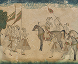 RAJPUT RULER RECEIVING A MUGHAL PRINCE -    - Classical Indian Art | Live Auction, Mumbai