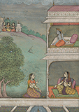 MESSAGE FROM KRISHNA: AN ILLUSTRATION FROM A RASIKAPRIYA -    - Classical Indian Art | Live Auction, Mumbai