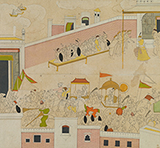 FOLIO FROM A NALA DAMAYANTI SERIES -    - Classical Indian Art | Live Auction, Mumbai