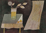 Still Life with Curtain - Badri  Narayan - Art and Collectibles Online Auction