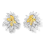 DIAMOND AND YELLOW SAPPHIRE EARRINGS -    - Art and Collectibles Online Auction
