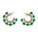 TSAVORITE AND DIAMOND HOOPS -    - Fine Jewels and Objets