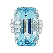 AQUAMARINE AND DIAMOND RING - Fine Jewels and Objets
